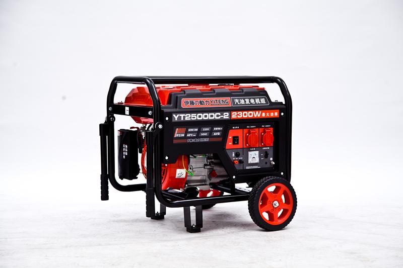 便携式2kw单相手启动汽油发电机