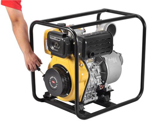 四寸柴油水泵//启动快捷运转平稳的柴油泵//震动小、油耗省的柴油泵