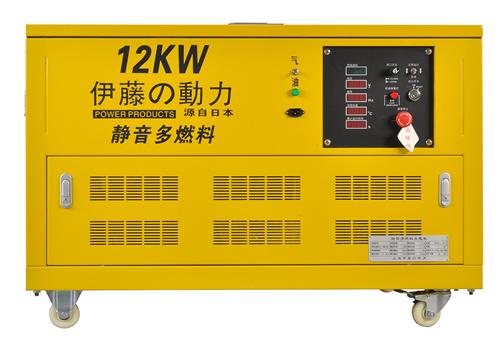 电子调速汽油发电机//12KW多燃料汽油发电机//箱柜式汽油发电机