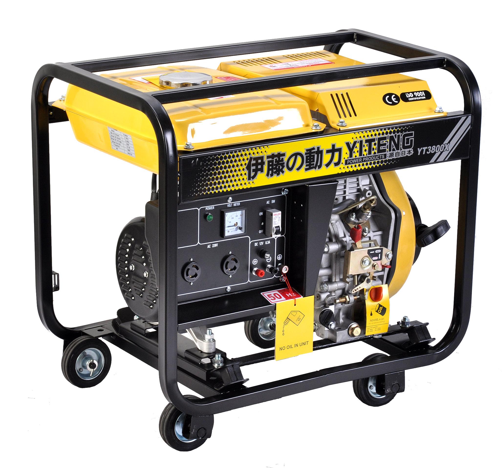 3000W小型柴油发电机电启动